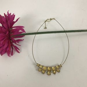 Jewelry - Vintage gold plated choker style necklace stones